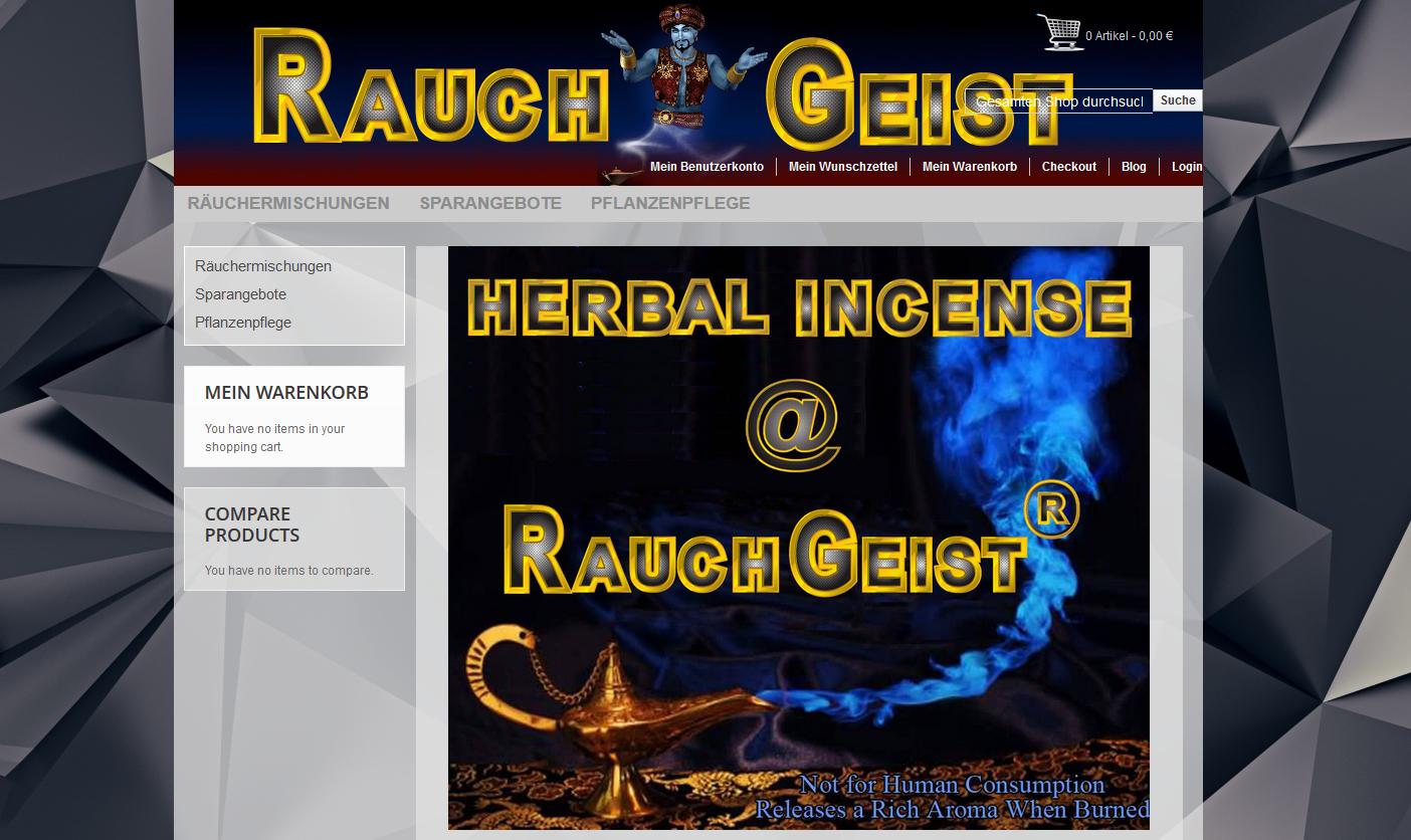 altes RauchGeist Shop layout