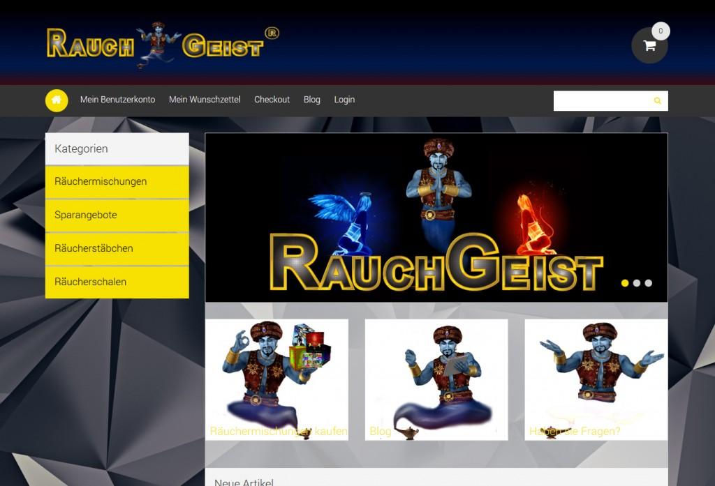 neuer RauchGeist shop Screenshot